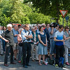 """Kundgebung """"Leerstand ist Verschwendung"""" am Zaun der """"Lincoln-Village"""" in Darmstadt am 8. Juni 2013"""