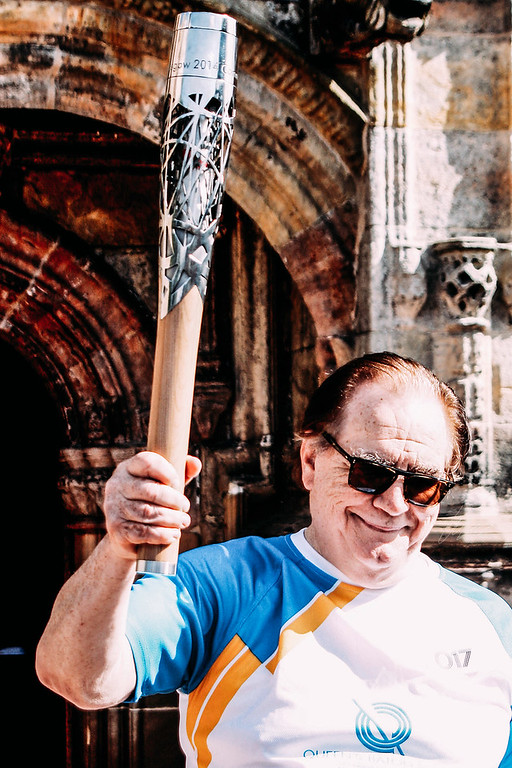 16/06/2014 - Brian Cox carries Queen's Baton to Rosslyn Chapel