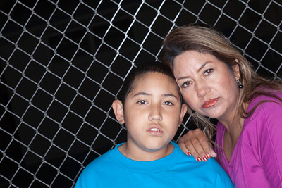Teresa Arredondo,rt, and her son, Roberto, stand in front of McKinley Elementary School in Bakersfield on Sat. November 5th, 2011.