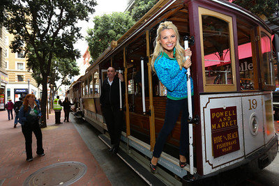 GONE WITH THE WIN -- San Francisco -- Pictured: (l-r) Win McMurry and Cable Car. -- Photo by: (Tomas Ovalle/Golf Channel)