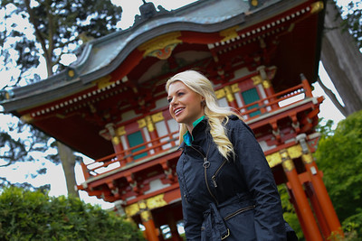 GONE WITH THE WIN -- San Francisco -- Pictured: (l-r) Win Mcmurry at the Japanese Tea Garden-- Photo by: (Tomas Ovalle/Golf Channel)