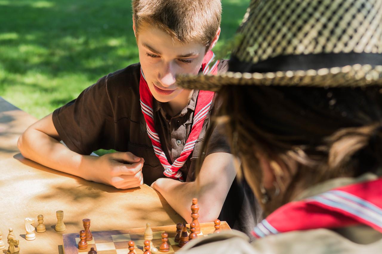 En pleine partie d'échecs