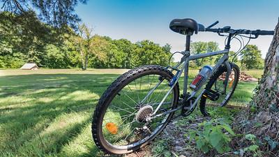 Les distances sont grandes pour les équipiers de service : rien de mieux qu'un vélo pour assurer !