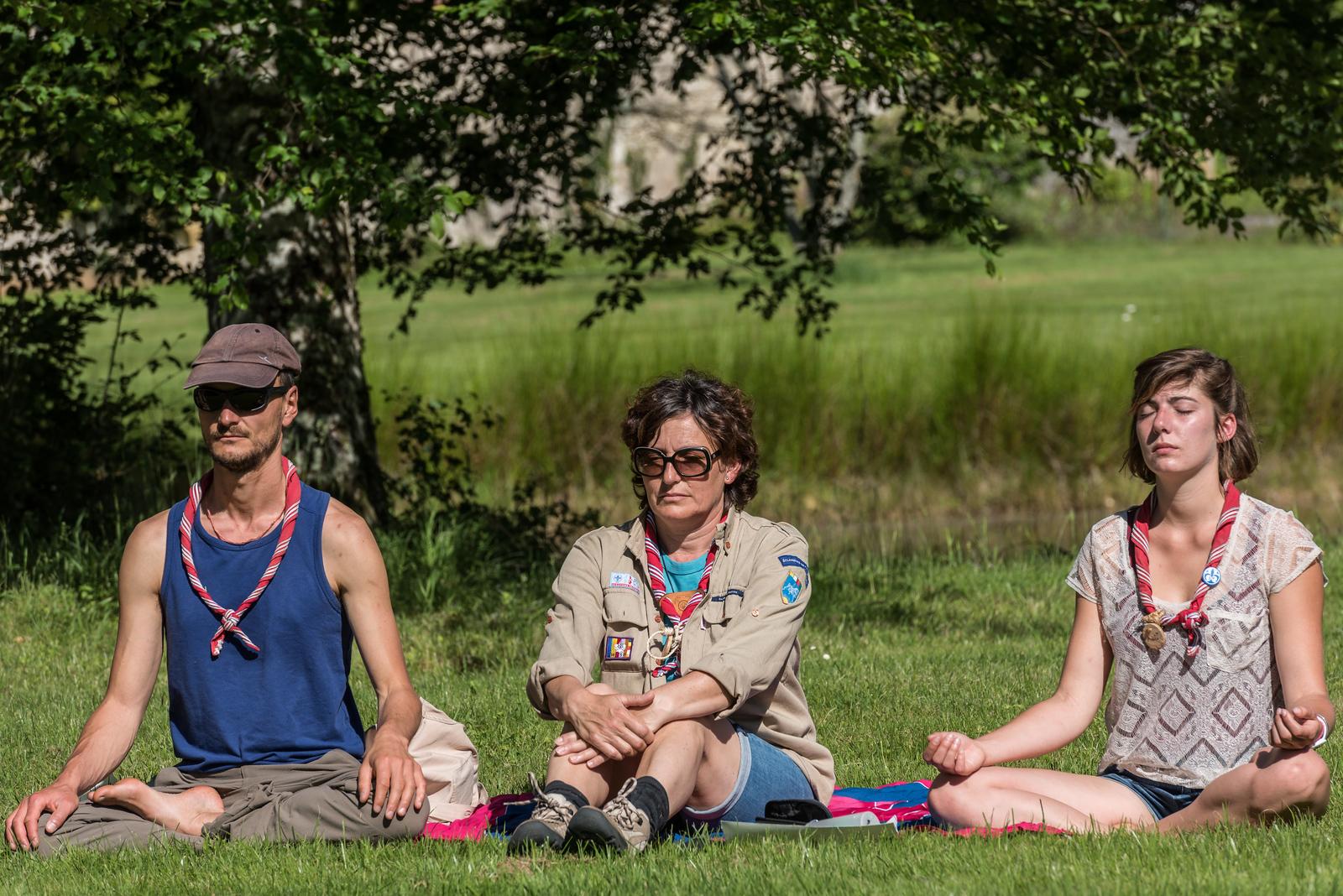 Méditation sous le soleil