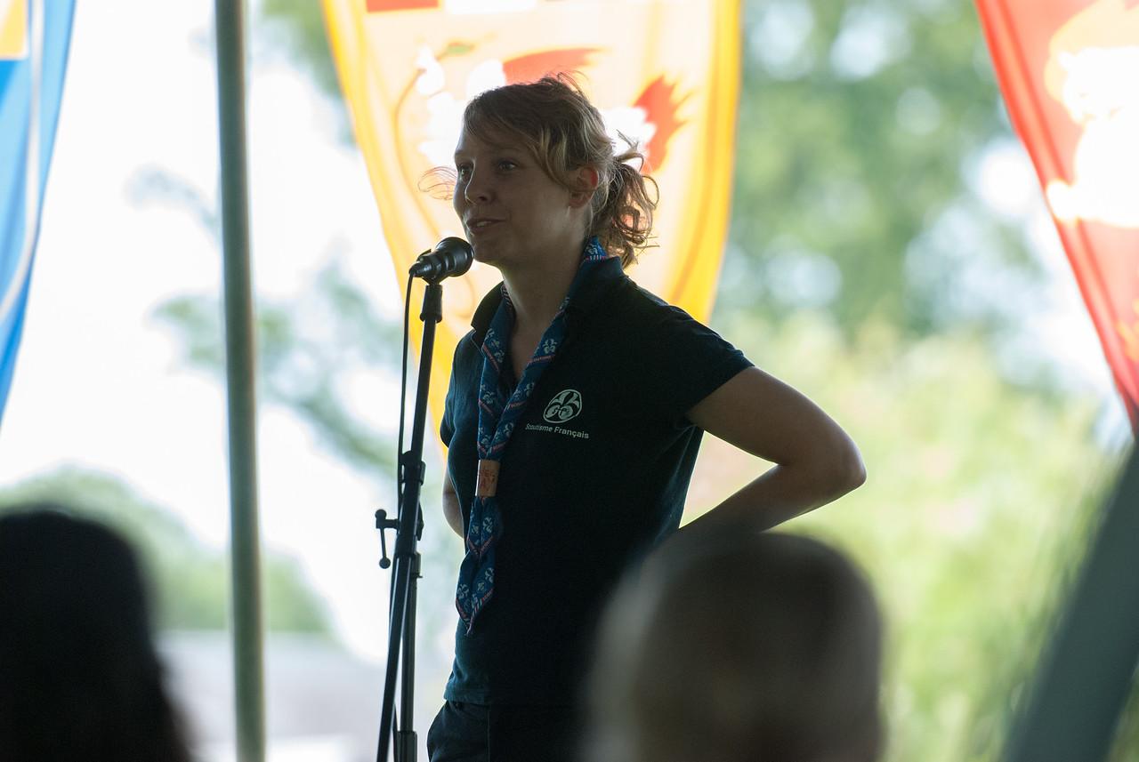 Elsa Bouneau (présidente de la Fédération du Scoutisme Français)