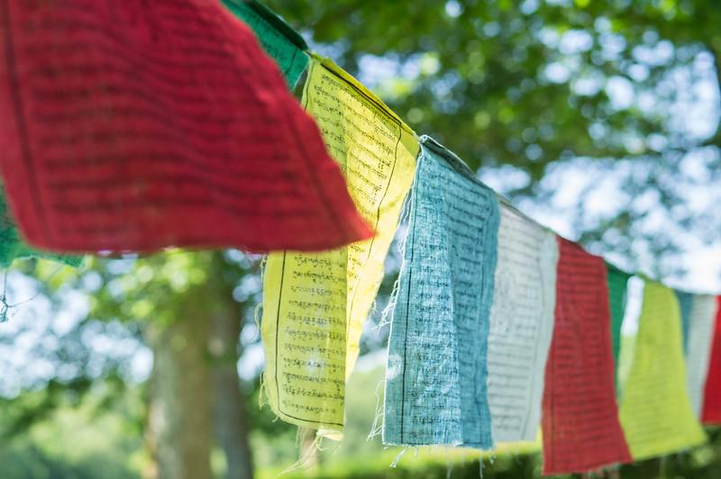 Drapeaux tibétains de prières