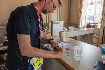 Clément au bureau de la Coordination