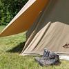 Les Eclaireuses et Eclaireurs de la Nature campent sous tente. #10AnsEDLN