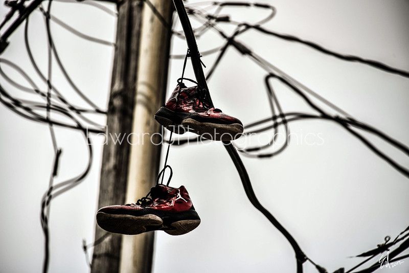 Ghetto Shoes On The Wire...