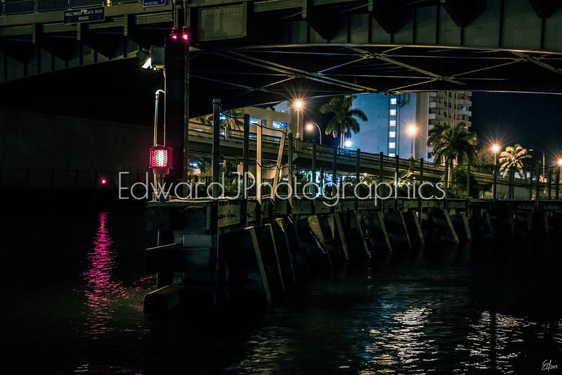 Nightlife Under The Hollywood Beach Bridge...