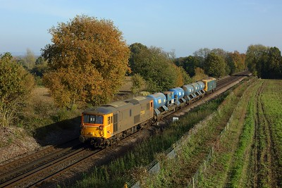 73109 leading 73201 working 3W74 Tonbridge west yard circular via Dover returning at Tudeley on 7 November 2020  Southeastermainline, Class73, GBRf, RHTT