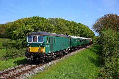 73133 on the 1416 Swanage to Norden at Quarr Farm on the 13th May 2018
