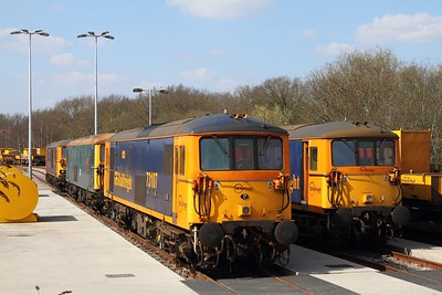 73107+73136+73201+73962 at Tonbridge yard on the 1st April 2016