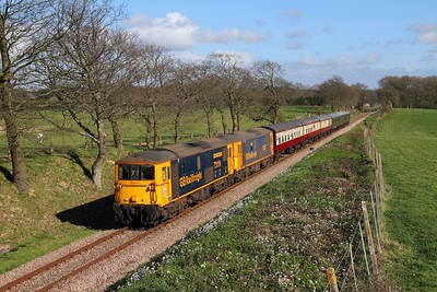 73119+73107 on the 1610 Sheffield Park to East Grinstead at Freshfield on the 1th April 2017