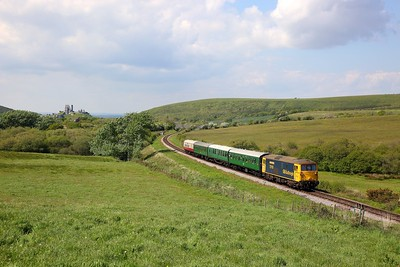 73119 on the 1439 Corfe to Swanage at Corfe Common on the 12th May 2019