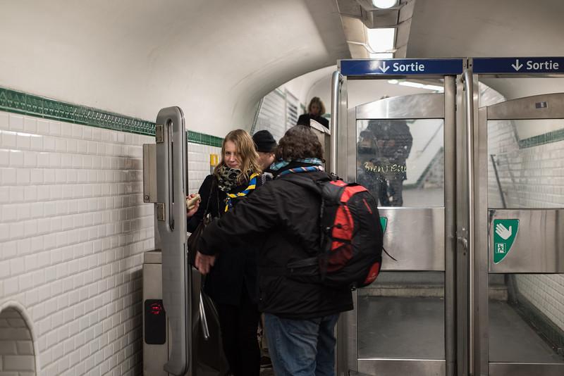 Retour en métro