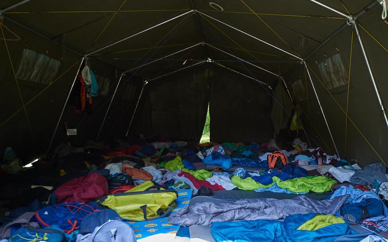 La tente des louveteaux