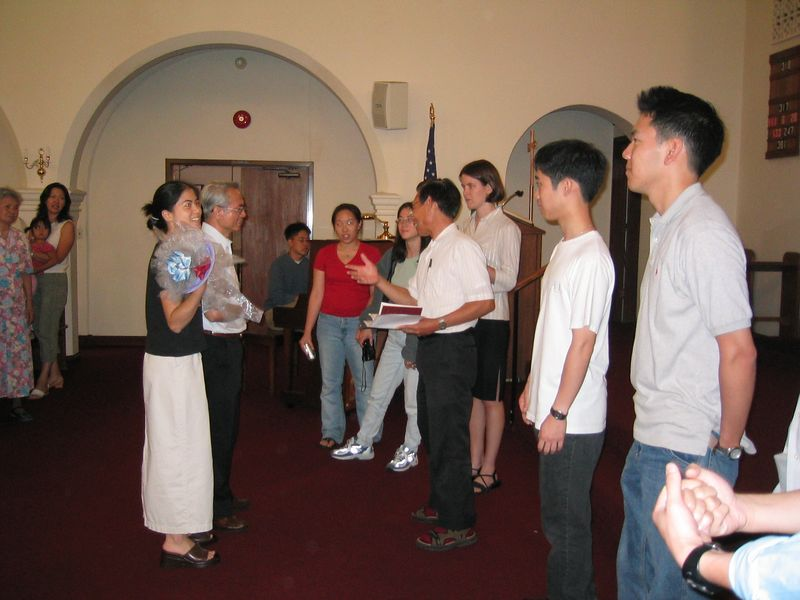 Wedding Party & Pastor Chen