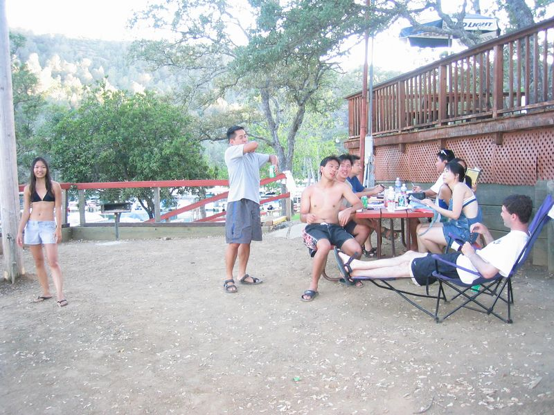 2003 08 16 Saturday - Lake Berryessa Trip, Mingling around picnic area