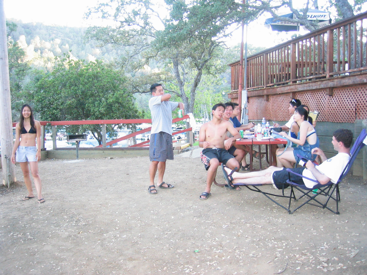 2003 08 16 Saturday - Lake Berryessa Trip, Mingling around picnic area