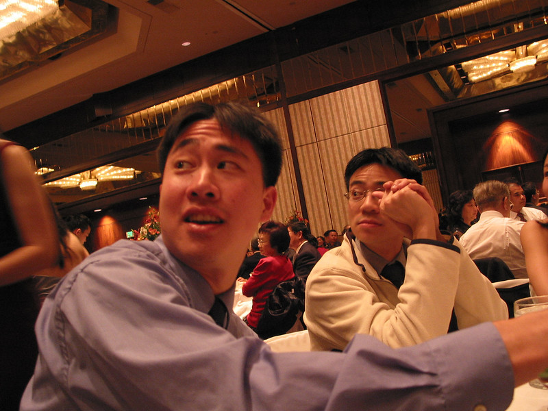 Reception - Stephen Chang & Ben @ the table