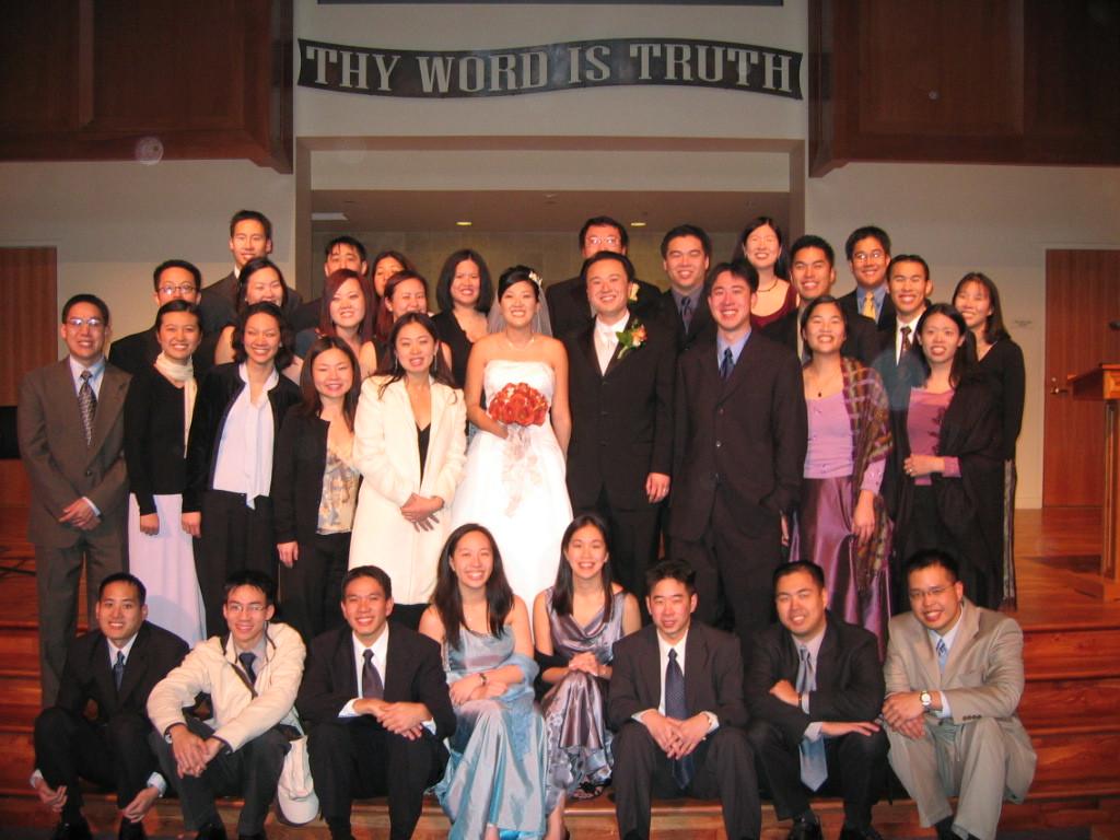 EFC Berkeley group photo with bride & groom