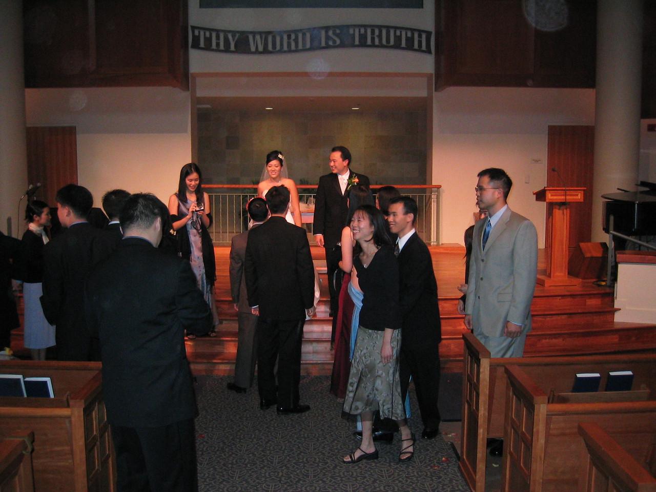 EFC Berkeley mingling after bride & groom photo op