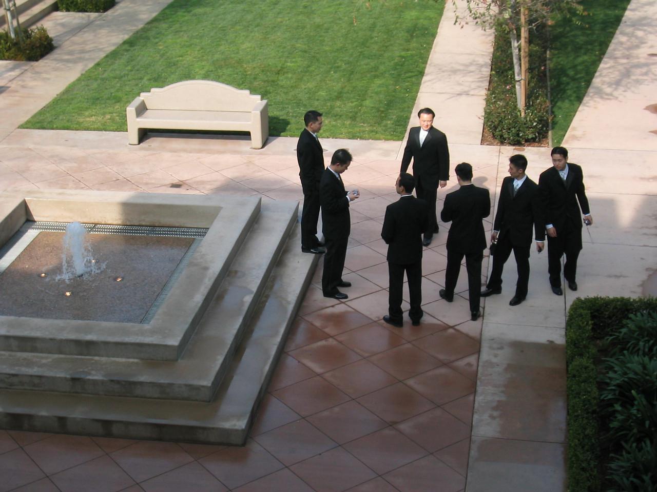 The groom & groom's men - candid