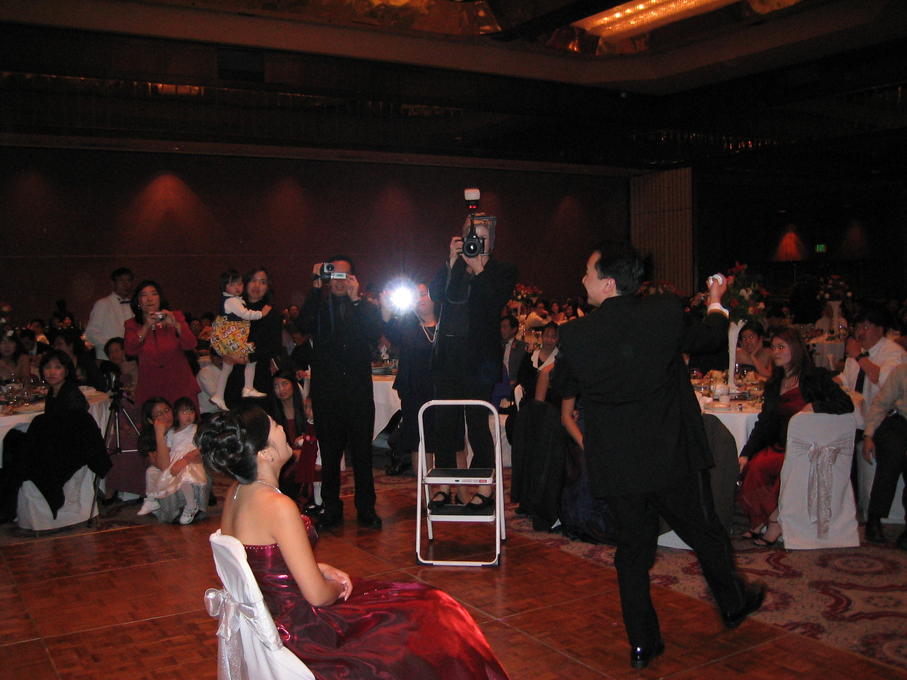 Reception - The garter toss