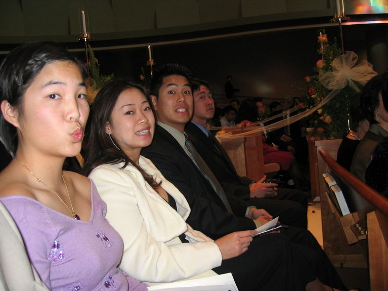In the pews - Lisa, Julie, Johnny, & Stephen Chang