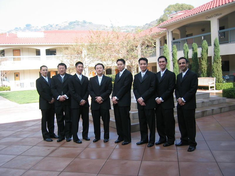 The groom & groom's men