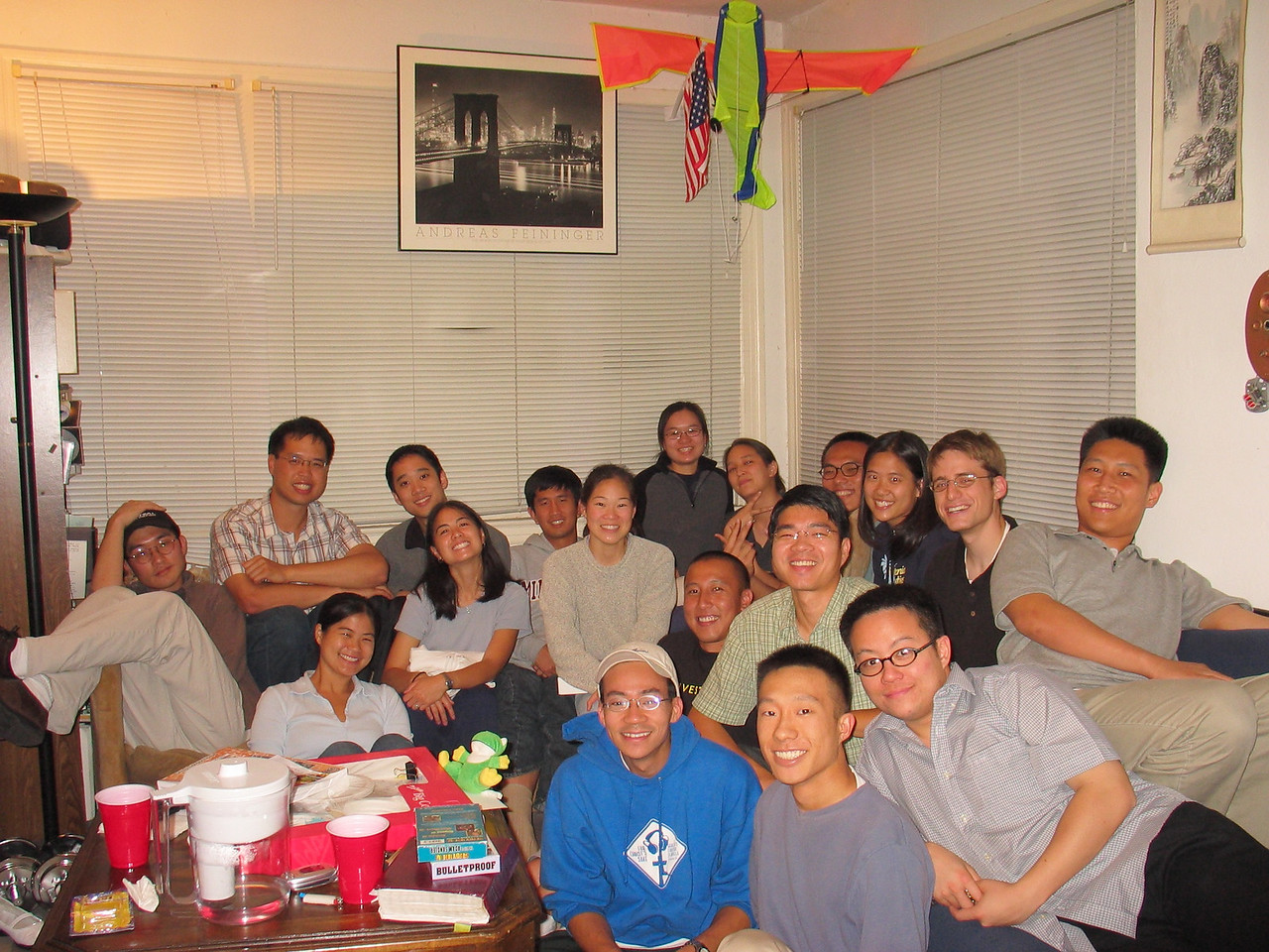 2004 07 27 Tuesday - Group pic 1 @ Eileen & Allen birthday-farewell get together