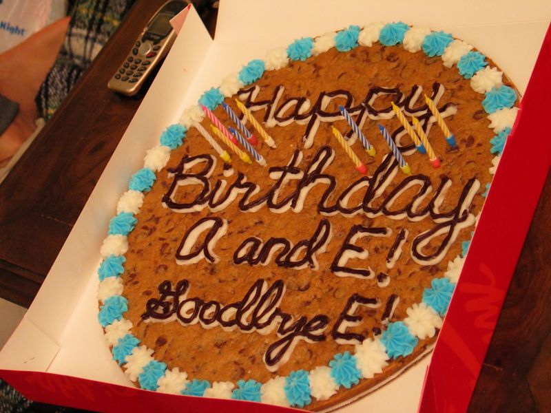 2004 07 27 Tuesday - Mrs  Fields Cookie Cake @ Eileen & Allen birthday-farewell get together
