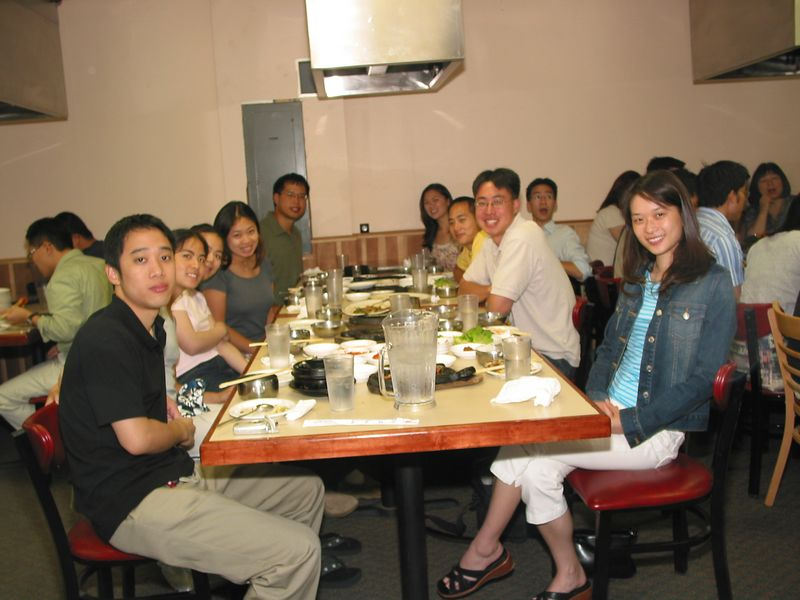2004 08 06 Friday - Group pic 2 @ Koryo's BBQ
