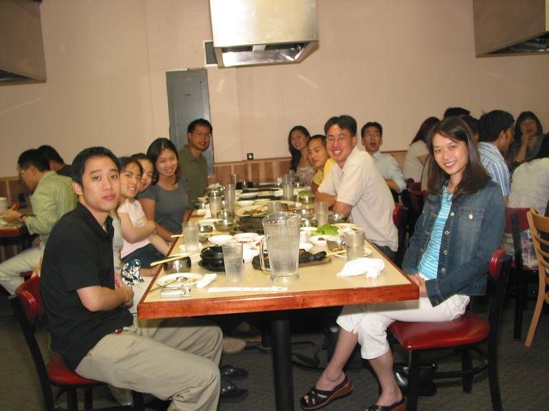2004 08 06 Friday - Group pic 2 @ Koryo's BBQ