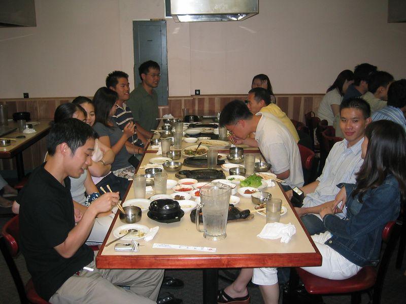 2004 08 06 Friday - Dinner @ Koryo's BBQ for Julie & Johnny's visit - group pic 1