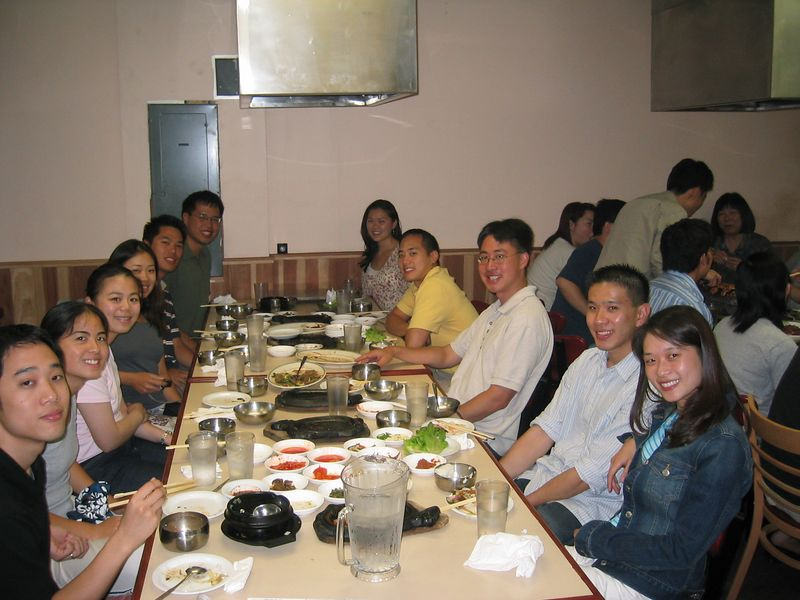2004 08 06 Friday - Dinner @ Koryo's BBQ for Julie & Johnny's visit - group pic 2