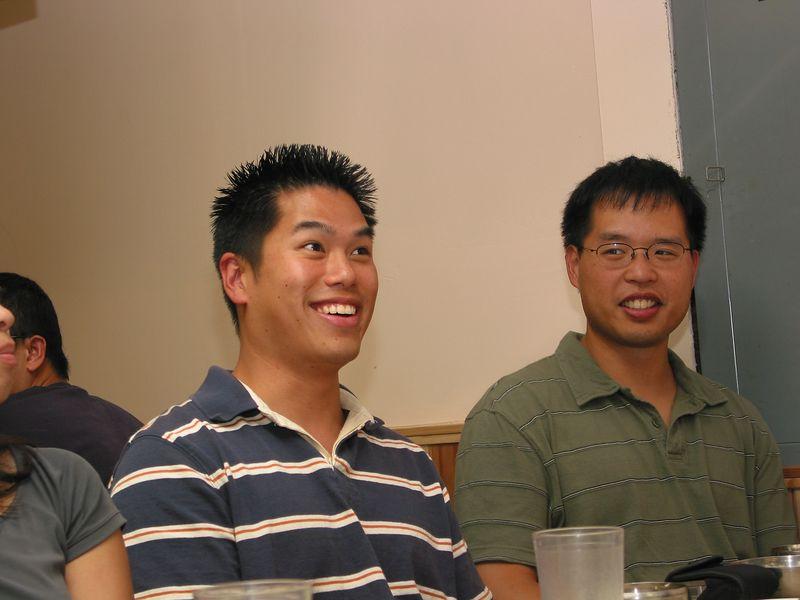 2004 08 06 Friday - Johnny & Jeff @ Koryo's BBQ