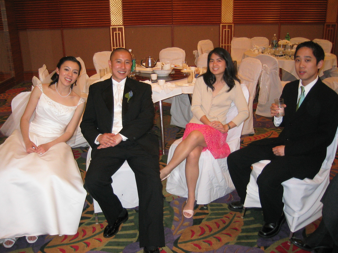 2005 04 23 Saturday - Pooped Amy & Mike Lee and Audrey & Andy Wu 2 @ Mike & Amy Lee's wedding