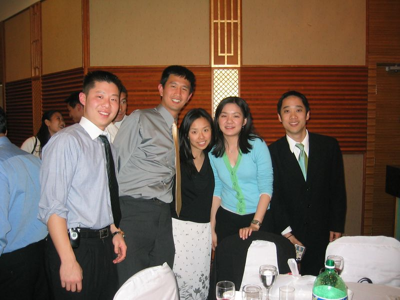 2005 04 23 Saturday - Alan, Ben, May, Jeanette, & Andy @ Mike & Amy Lee's wedding