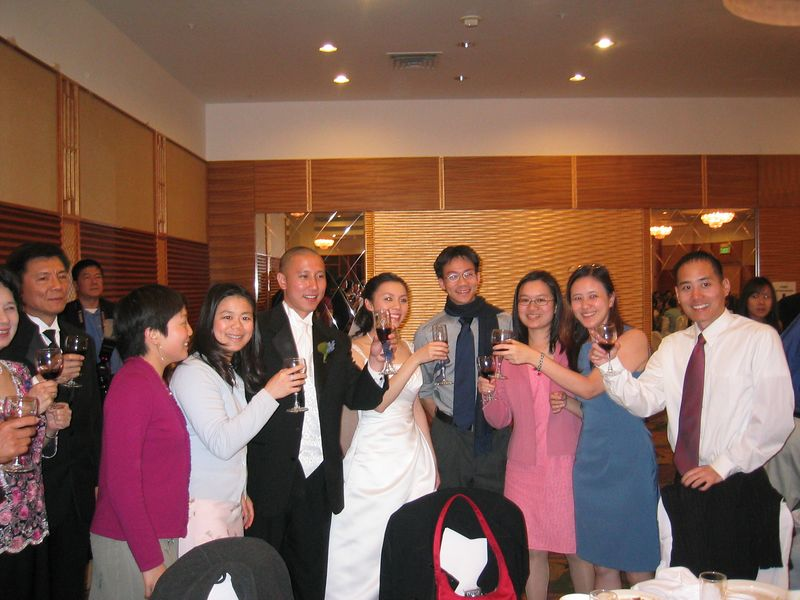 2005 04 23 Saturday - Table toast 2 @ Mike & Amy Lee's wedding