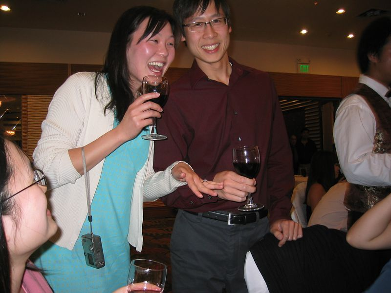 2005 04 23 Saturday - Newly engaged Leslie & Dave @ Mike & Amy Lee's wedding