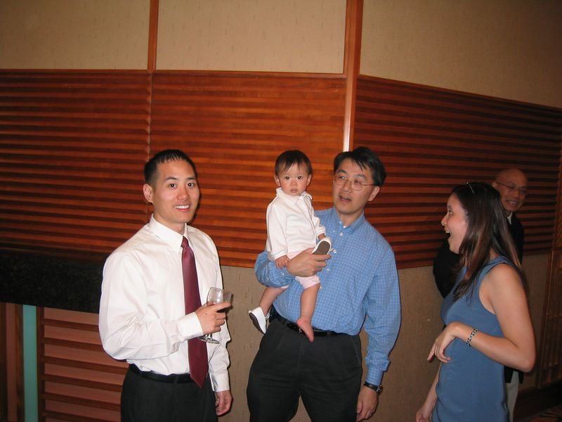 2005 04 23 Saturday - Jimmy, Ally, Brian, & Joanna @ Mike & Amy Lee's wedding