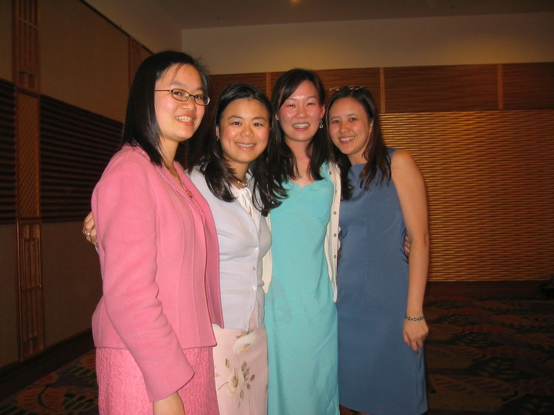 2005 04 23 Saturday - Christine, Annie, Leslie, & Joanna @ Mike & Amy Lee's wedding