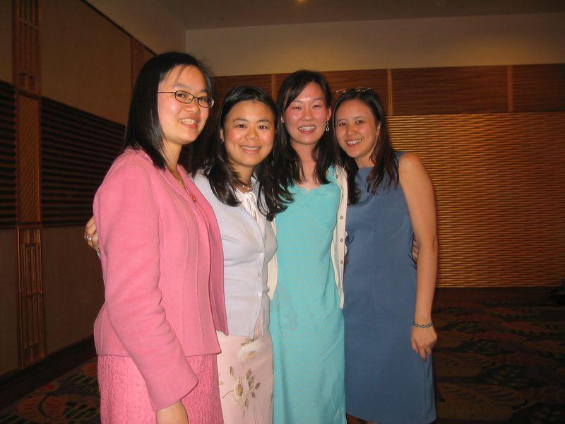 2005 04 23 Saturday - Christine, Annie, Leslie, & Joanna @ Mike & Amy Lee's wedding
