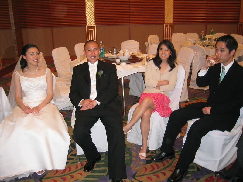 2005 04 23 Saturday - Pooped Amy & Mike Lee and Audrey & Andy Wu 1 @ Mike & Amy Lee's wedding