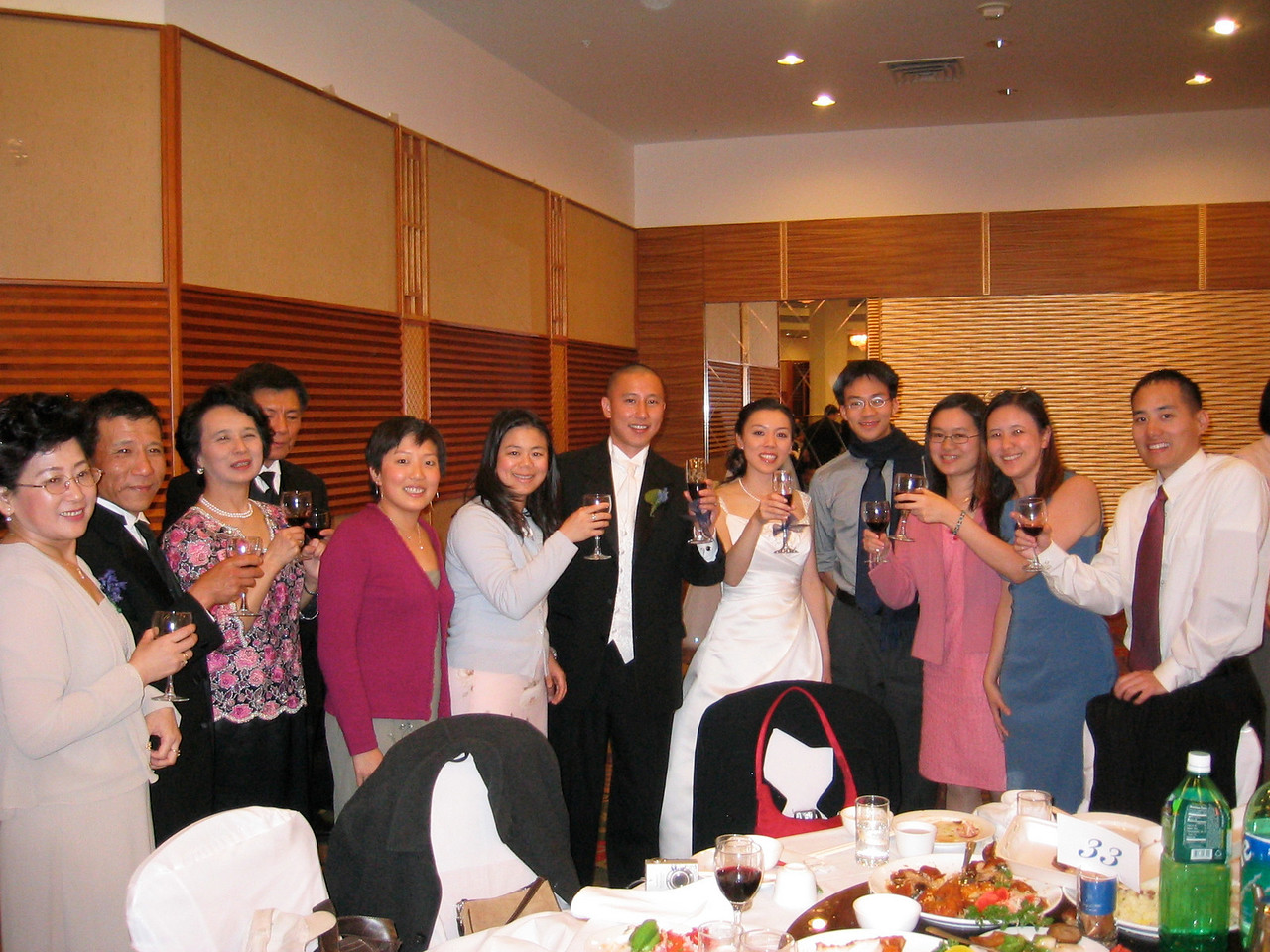 2005 04 23 Saturday - Table toast 3 @ Mike & Amy Lee's wedding