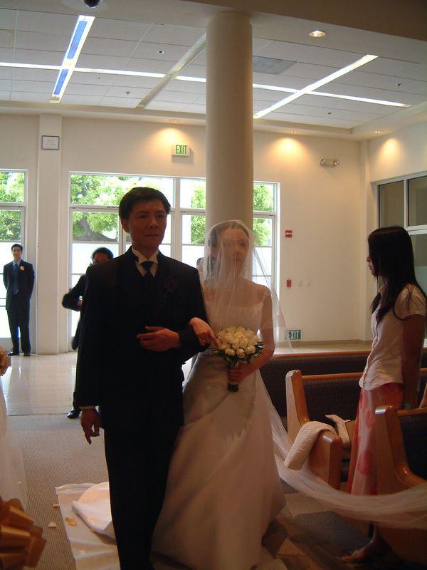 Father & Bride walk the aisle
