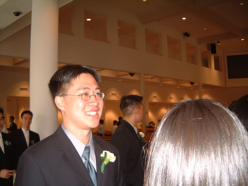 Stephen Chang ushers