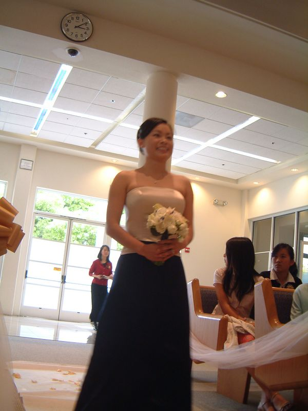 Alice Miyai walks the aisle
